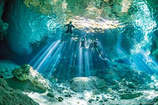dos-ojos-cenote-swim